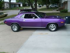 1970 Plum Crazy Challenger (This one isn't just a fantasy... I actually have one.  It's not running at the moment, however.)