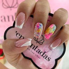 Lux Nails, Beauty Spa, Nail Decorations, Nail Spa, White Nails, Acrylic Nails, Manicure, Valentines, Nail Ideas
