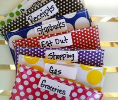Great Blog post about living on a budget!  These envelopes are to die for :]