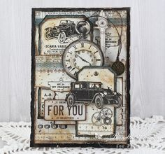 Hello Everyone! I'm very excited to share with you today, this vintage masculine card featuring papers from the Mister Tom's Treasures collection. I have also put together a video tutorial.  Thanks fo