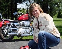 Me and My Red Sporty: It was the summer of my Junior year in High School when I got interested in motorcycle riding, partly because my boyfriend at the time and his family were