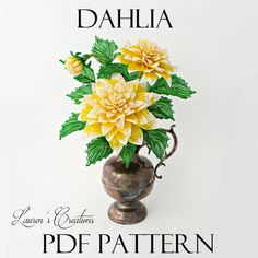 french beaded dahlia pattern by lauren harpster