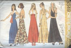 1970s Dress Pattern Simplicity 5349 Halter Top by TheYesterYears
