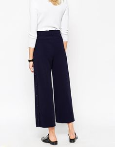 Image 2 ofASOS Ankle Grazer Culottes with Button Detail