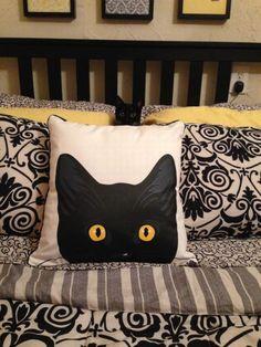Cat pillow . Home decor
