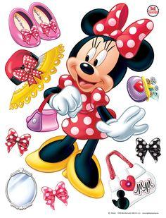 Walt Disney - Minnie Mouse, Chic in a Bowl Wall Sticker Mickey Minnie Mouse, Mickey Mouse And Friends, Stickers Cars, Wall Stickers, Walt Disney Animation Studios, Mouse Pictures, Disney Pictures, Disney Cartoon Characters, Disney Cartoons