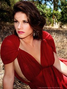 Missy Peregrym Beautiful Photoshoot in Red Dress Brunette Actresses, Hot Actresses, Beautiful Celebrities, Beautiful Actresses, Beautiful Ladies, Cheap Womens Tops, Hot Brunette, I Love Girls, Models