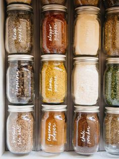 Get More Organized With This Simple DIY Spice Drawer Hack Take charge of that kitchen clutter and organize your spice jars without building any racks or inserts. This DIY spice drawer saves time and makes space! Diy Kitchen Storage, Kitchen Pantry, Diy Storage, New Kitchen, Storage Ideas, Kitchen Jars, Food Storage, Danish Kitchen, Maple Kitchen