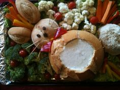 bunny veggie tray - Rabbit food
