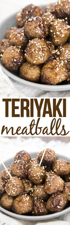 These easy teriyaki meatballs are covered in a to die for flavorful sauce. Great served as an appetizer or over rice as a main dish!