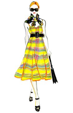 Fashion Illustration Ralph Lauren Resort by sunnygu on Etsy