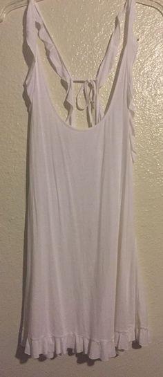 Victorias Secret Bathing Suit Cover Up White Medium Beach Dress Soft #VictoriasSecret #CoverUp