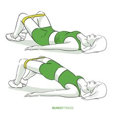Elevación de caderas con banda elástica
