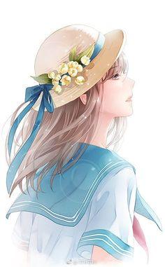 Cute Cartoon Girl, Cool Anime Girl, Beautiful Anime Girl, Anime Art Girl, Manga Girl, Anime Love, Chica Anime Manga, Anime Chibi, Doll Drawing
