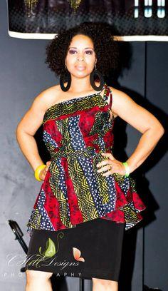 African Print Convertible Dress Size 2  14 by aconversationpiece, $75.00