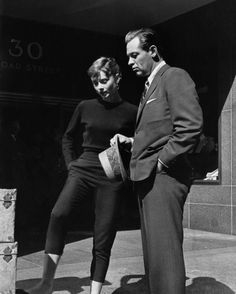 Rare Audrey Hepburn — Audrey Hepburn and William Holden on the streets...