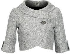 Gray cropped blazer