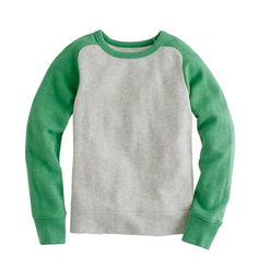 Boys' baseball sweatshirt. jcrew kids