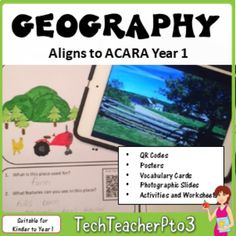 Geography Unit Year 1 Places and Spaces aligned Australian Curriculum HASS: Contained in this pack is EVERYTHING you need to teach Year 1 Geography to meet the latest Australian Curriculum Standards (ACARA).