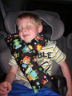 Child's Seat Belt Pillow  Monkeys by SafferyMoore on Etsy, $20.00