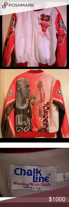 Michael Jordan  Bulls Chalkline Fanimation Jacket Here it is The Holy Grail of Vintage Jackets. Chicago Bulls Michael Jordan Chalkline Fanimation. Just got this not sure if We want to sell it. If the offer is Right I will Considering Selling It. In superb condition. chalkline Jackets & Coats Windbreakers