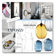"""""""#Clear - Transparent Home Trend"""" by nikkisg ❤ liked on Polyvore featuring interior, interiors, interior design, home, home decor, interior decorating, CALLIGARIS, transparent and clear"""
