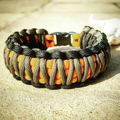 Black Gray Orange King Cobra Paracord Bracelet, Hunting Fashion, Fathers Day Gift, Mens Bracelet, EDC Bracelet, Wanderlust Accessories, EDC Paracord Tutorial, Paracord Ideas, Survival Bracelets, Paracord Bracelets, King Cobra, Black And Grey, Gray, Edc Gear, Gadgets And Gizmos