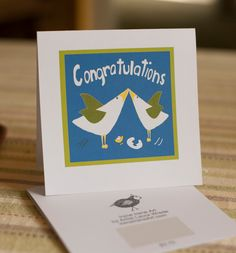 New Baby Card Congratulations Congratulations by IreneIreneArt, #greetingcards, #illustrations, #art, #cards, #etsy, #ireneirene, #laurawrede, # handmadecards