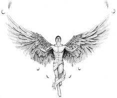 Beautiful Male Angel Drawing - Would you like to draw your own angel. Angel images angel pictures beautiful angels pictures angels among us angels and demons angels and fairies ange. Engel Tattoos, Kunst Tattoos, Body Art Tattoos, Sleeve Tattoos, Tatoos, Cross Tattoos, Small Guardian Angel Tattoos, Fallen Angel Tattoo, Angel Tattoo Men