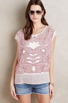 Embroidered Sienna Top by Akemi + Kin at anthropologie. love this for summery warm days!