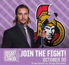 #Ottawa It's #HockeyFightsCancer night - tonight at the .@CdnTireCtr #Sens vs #Blackhawks pic.twitter.com/P3T03fKb1V Who are you fighting for?