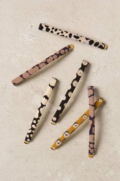 Printed Fabric Hair Pins   Anthropologie.eu
