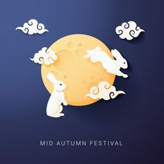 Discover thousands of Premium vectors available in AI and EPS formats Rabbit Illustration, Autumn Illustration, Moon Illustration, Moon Vector, Rabbit Pictures, Chinese Festival, Event Banner, Graphic Wallpaper, Paper Artwork