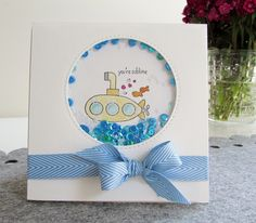 Sarah-Jane Rae cardsandacuppa: Stampin' Up! UK Order Online 24/7: A shaker card using You're Sublime by Stampin' Up!