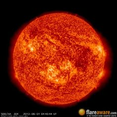 The hourly sun (at 04:45 am  UTC on  1 June 2013)