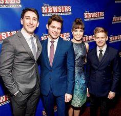 Newsies: The Broadway Musical movie premiere. Broadway Theatre, Musical Theatre, Broadway Shows, The Rocky Horror Picture Show, Theatre Nerds, Dear Evan Hansen, My Escape, Les Miserables, Choir
