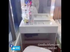 Vanity Table Set, Mirror, Hot, Youtube, Furniture, Home Decor, Decoration Home, Room Decor, Vanity Set