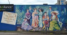 Mural based on 'The Geisha' performed at the Empress Theatre in 1915. Vernon, BC