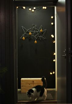 entrance with Christmas decoration