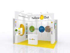 Shell Scheme Exhibition Stand Design using the Prestige System