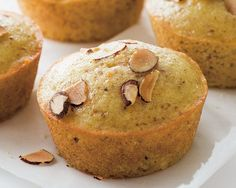 Orange-Scented Almond and Olive Oil Muffins by Giada de Laurentiis.  I love to take these muffins to Jade's school for breakfast for her classmates to share.