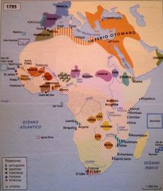 Political map of Africa before the Scramble for Africa (1795) (Spanish)