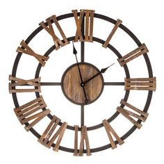 Cut-Out Wood Wall Clock