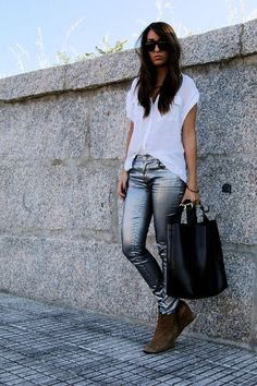 Another great pair of metallic coated jeans.