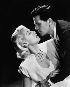 "Lana Turner and John Garfield in ""The Postman always rings twice"""