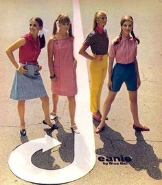"""Fashion ad featured in Seventeen, March 1967 (x) """