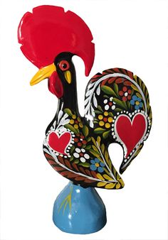 Barcelos Rooster - Black (19cm) Order Today! www.RoosterCamisa.com
