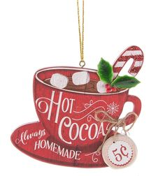 Hot Cocoa Ornament - Always Homemade 5 Cents Merry Christmas, Christmas Dishes, Christmas Figurines, Christmas Wood, Pink Christmas, Christmas Signs, Homemade Christmas, Christmas Crafts, Christmas Ornaments