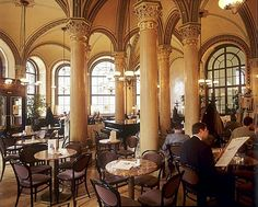 Inside the Cafe Central, coffeehouse, Vienna, Austria