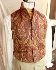 Wedding Groom English Regency Waistcoat Steampunk Victorian Edwardian Vest